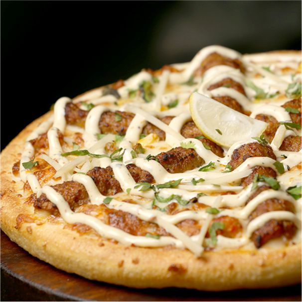 Seekh Kabab Stuff Pizza